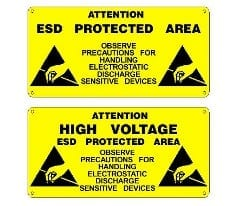 ESD Warning Labels and Signs