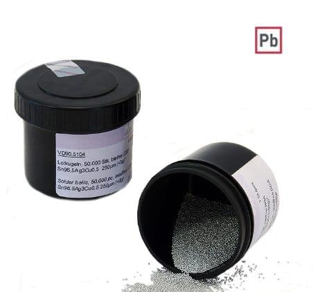 Solder Spheres Pb (containing lead)